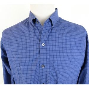 Zachary Prell Large Shirt Checkered Button Down LS